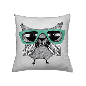 jilda-tex Zierkissen Hipster Owl (45x45cm)
