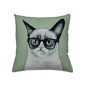 jilda-tex Zierkissen Nerd Cat (45x45cm)