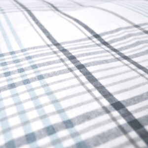 jilda-tex Bettwäsche Stripes & Checks Weiß/Blau