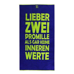 jilda-tex Strandtuch Zwei Promille (90x180cm)