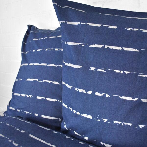 jilda-tex Bettwäsche Modern Stripes Blau Bild3
