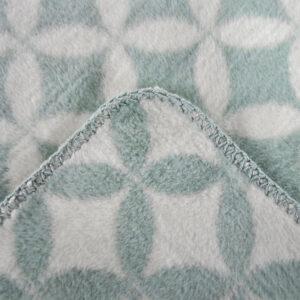 jilda-tex Wohndecke Diamond – Mint (150x200cm)