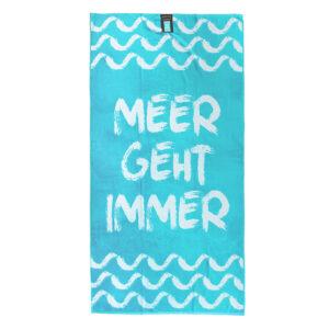 jilda-tex Strandtuch Meer geht immer (90x180cm)