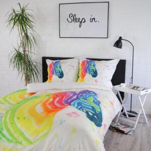jilda-tex Bettwäsche Rainbow Zebra