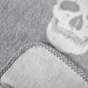 jilda-tex Wohndecke Skull – Grey