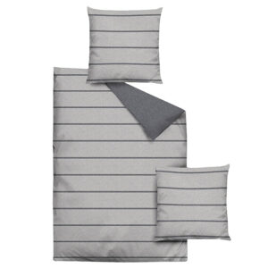 jilda-tex Bettwäsche Melange Stripes – Grey