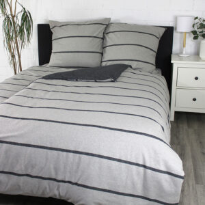 jilda-tex Bettwäsche Melange Stripes – Grey