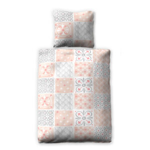 jilda-tex Bettwäsche Tiles – Coral