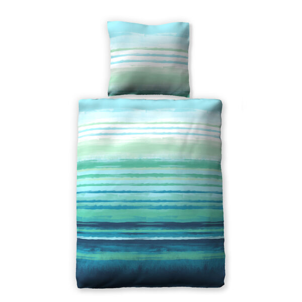 watercolor stripes turquoise