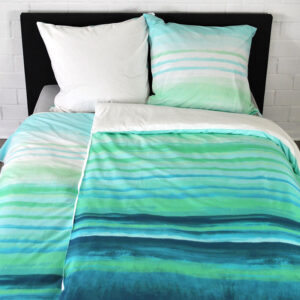 Watercolor Stripes – Turquoise