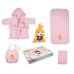 jilda-tex Babyset Kinderset Puppe – Rosa