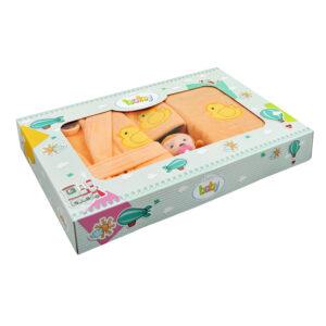 jilda-tex Babyset Kinderset Ente – Apricot