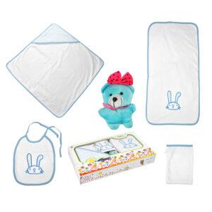 jilda-tex Babyset Kinderset Hase – Blau
