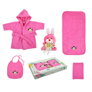 jilda-tex Babyset Kinderset Affe – Pink