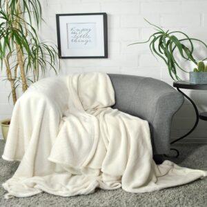 jilda-tex Wohndecke Soft – Ecru (150x200cm)