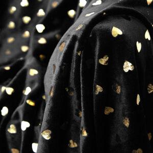 jilda-tex Wohndecke Soft – Black Heart Gold (150x200cm)