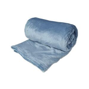 jilda-tex Wohndecke Soft – Blau (150x200cm)