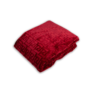 jilda-tex Wohndecke Soft – Illusion Red