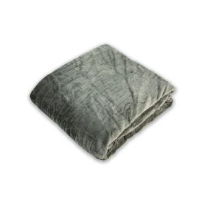 jilda-tex Wohndecke Soft – Lines Dark Grey (150x200cm)