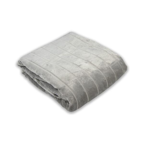 jilda-tex Wohndecke Lines Light Grey freigestellt mit weißem Hintergrund