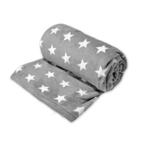 jilda-tex Wohndecke Soft – Stars Graphic Grey (150x200cm)