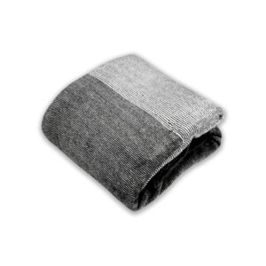 jilda-tex Wohndecke Soft – Stripe Black (150x200cm)