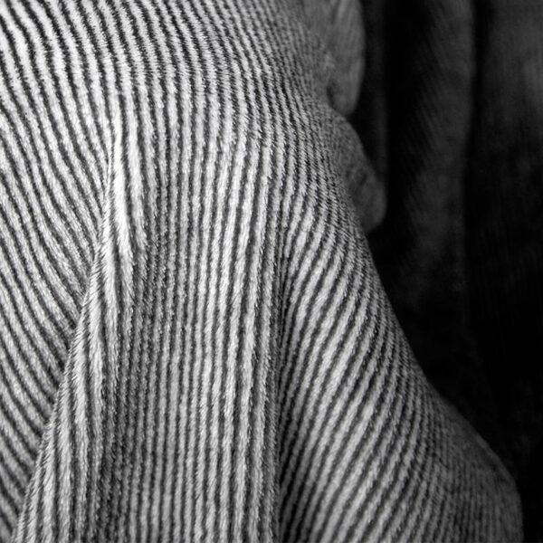 jilda-tex Wohndecke Stripe Black Bild2