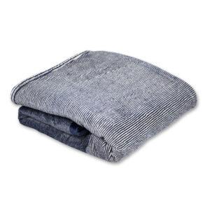 jilda-tex Wohndecke Soft – Stripe Blue (150x200cm)