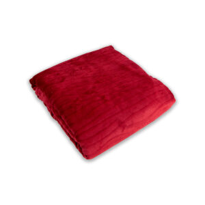 jilda-tex Wohndecke Soft – Timber Red (150x200cm)
