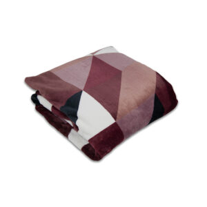 jilda-tex Wohndecke Soft – Triangle Berry (150x200cm)