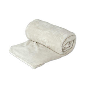 jilda-tex Wohndecke Soft – Vanille (150x200cm)