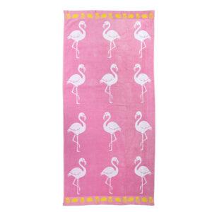 jilda-tex Strandtuch Flamingo Tropical (90x180cm)