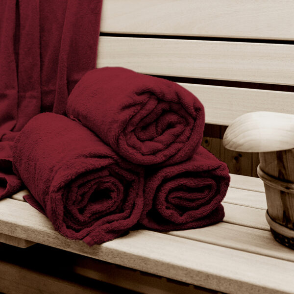 jilda-tex Strandtuch Holiday Rot Sauna