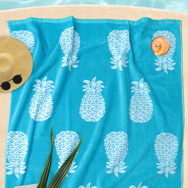 jilda-tex Strandtuch Pineapple Allover Turquoise Bild5