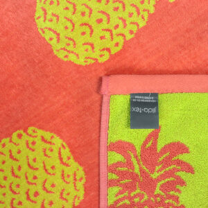 jilda-tex Strandtuch Pineapple Allover Coral (90x180cm)