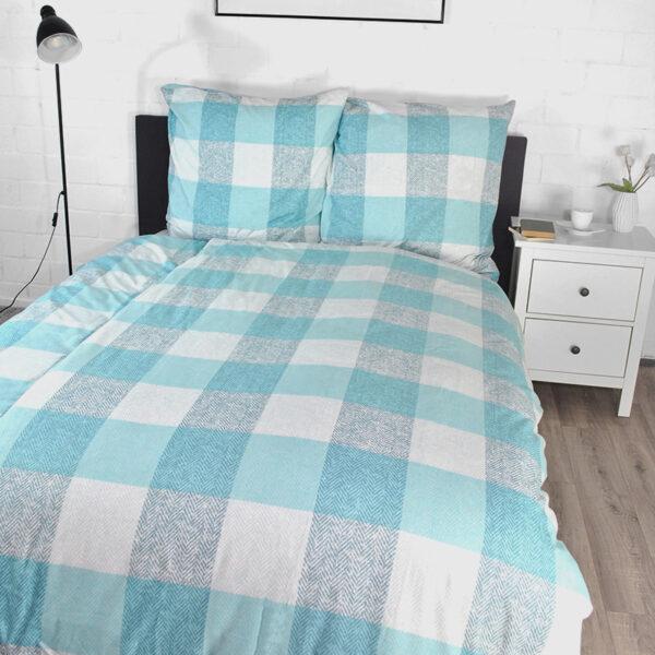 jilda-tex Bettwäsche Classic Square Blue Bild1