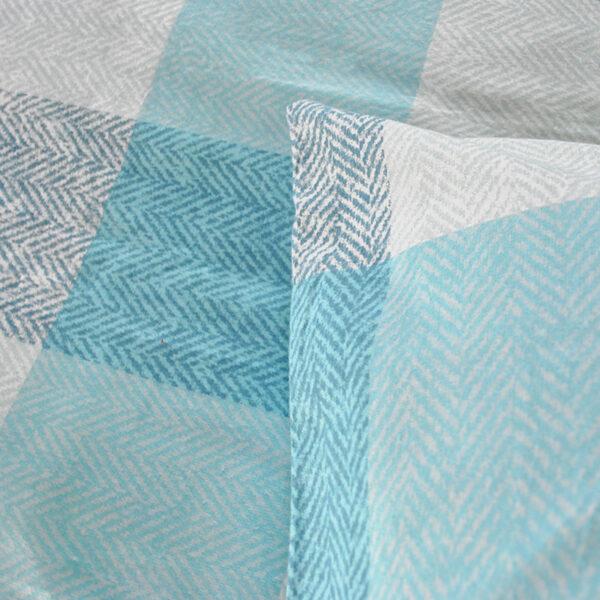 jilda-tex Bettwäsche Classic Square Blue Bild4