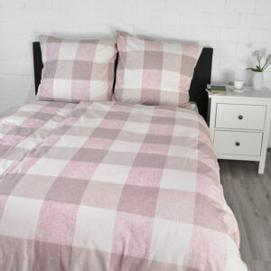 jilda-tex Bettwäsche Classic Squares – Pink