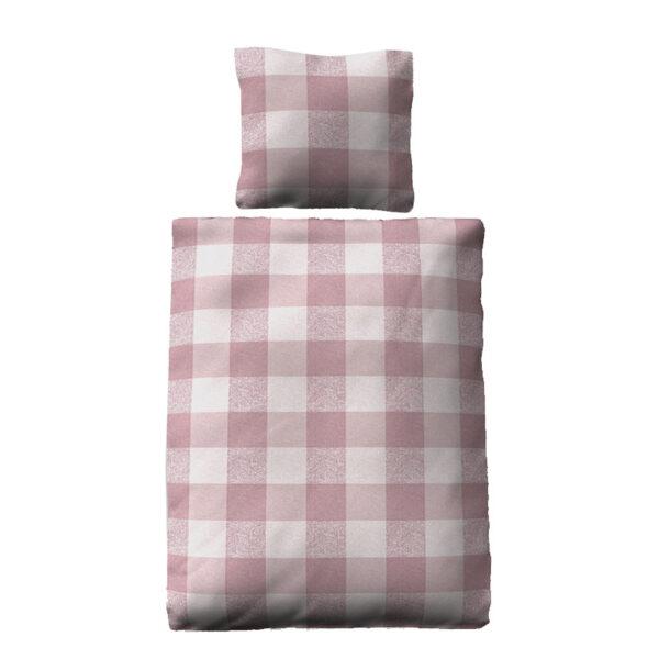 jilda-tex Bettwäsche Classic Squares Pink Freisteller