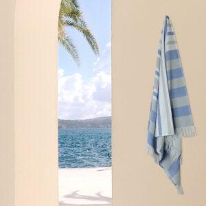jilda-tex Hamamtuch Classic Stripes – Blue (90x180cm)