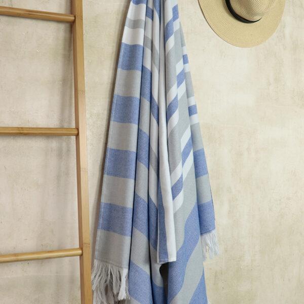 jilda-tex Hamamtuch Classic Stripes Blue Bild3