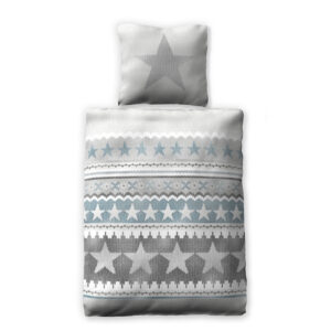 jilda-tex Bettwäsche Grey Stars (135×200 cm)