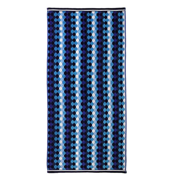 jilda-tex Strandtuch Mosaic Blue Freisteller