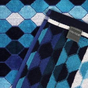 jilda-tex Strandtuch Mosaic Blue (90x180cm)