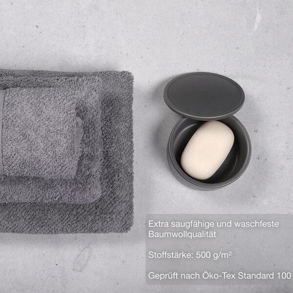 jilda-tex Frottierware Premium Grau Bild4