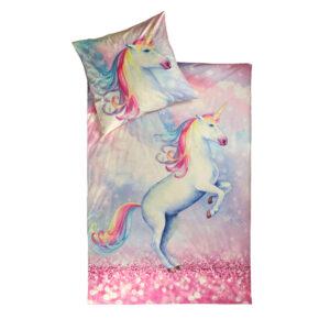 jilda-tex Kinderbettwäsche Sparkle Unicorn (135x200cm)