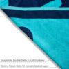 jilda-tex Strandtuch Chill Blue Bild5
