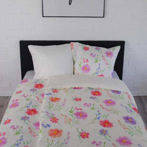 jilda-tex Bettwäsche floral pink von oben