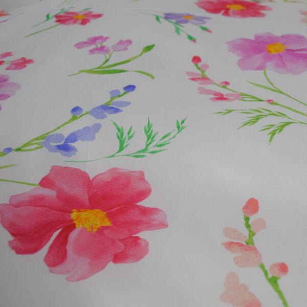 Nahaufnahme von der jilda-tex Bettwäsche Floral Pink