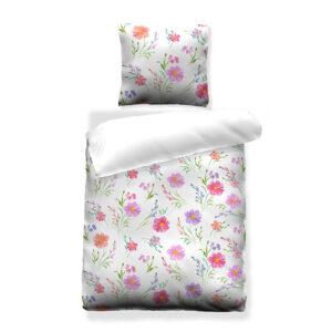 jilda-tex Bettwäsche Pink Flowers (135x200cm)